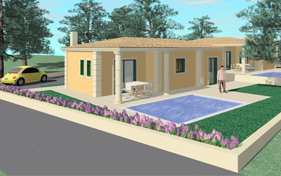 Συγκρότημα ισόγειων κατοικιών στον Αγ. Ηλία Κέρκυρας